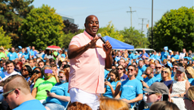 Magic Johnson Speaks at United Wholesale Mortgage Rally