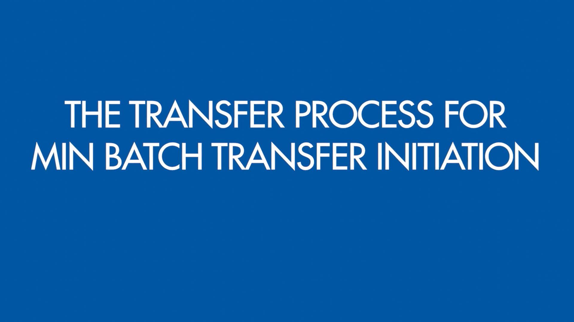 MinBatchTransferProcess