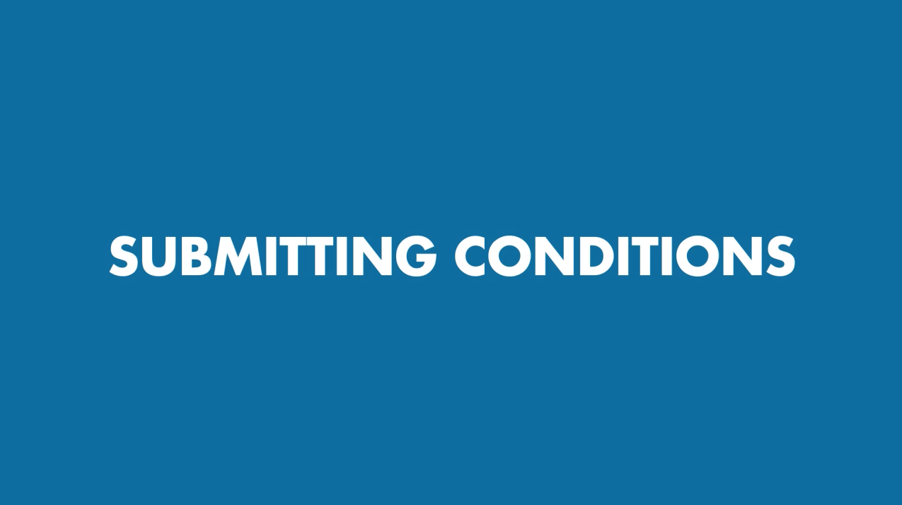 SubmittingConditions